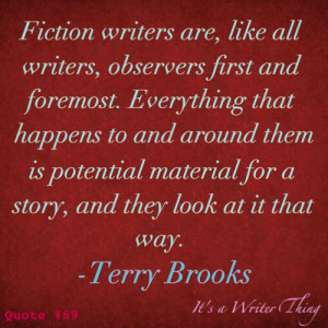 terry brooks quote on fiction writers