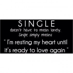 Not ready to love again...