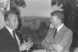 Israeli PM Yitzhak Rabin & Jimym Carter at the White House (March 7 ...