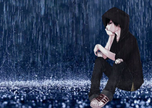 Sad Anime Wallpapers in Rain
