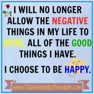 choose to be Happy!