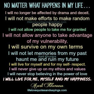 No Matter What Happens In My Life...