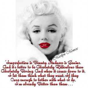 QUOTES: From THE Woman..Marilyn Monroe!