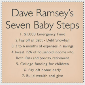Dave Ramsey Seven Baby Steps
