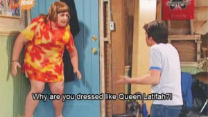 drake and josh, funny, haha, nickelodeon, queen latifah, subtitles