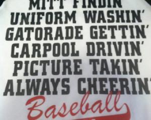Baseball Quotes For Girlfriends I'm a baseball mom shirt