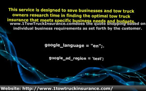 Get Tow Truck Insurance Quotes At Cheapest Price