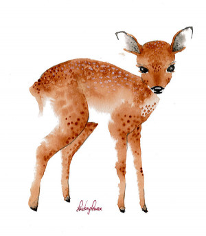 Fawn Illustration Jenny's fawn by lindsaypearce