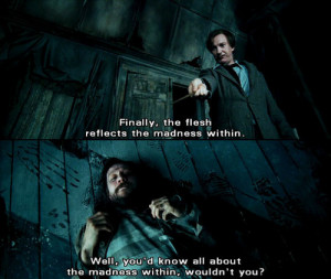 ... harry potter, lupin, mad, madness, quote, quotes, remus lupin, saying