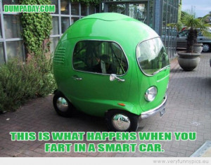 Funny Picture - This is what happens when you fart in a smart car