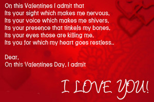 Valentines Day Message Card