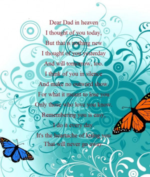 Dear Dad in heaven.....
