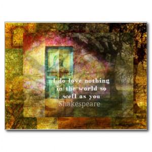 ROMANTIC William Shakespeare LOVE quote Post Cards