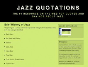 ... of jazz the 1 resource on the web for quotes and sayings about jazz