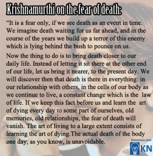 Krishnamurti quote about death – mind opening!