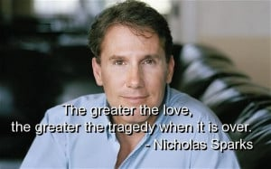 Nicholas sparks quotes and sayings meaningful love tragedy