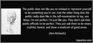 does not like you to mislead or represent yourself to be something you ...