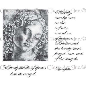 Chapel Road Artstamps Cling Mounted Rubber Stamps Set Madonna & Quotes