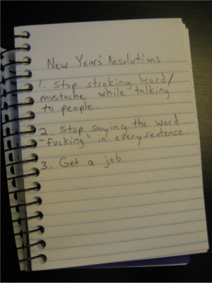 23. Funny new year resolutions: get a job
