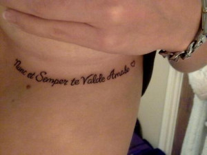 This is my first tattoo, had it done today! :o) its a latin quote ...