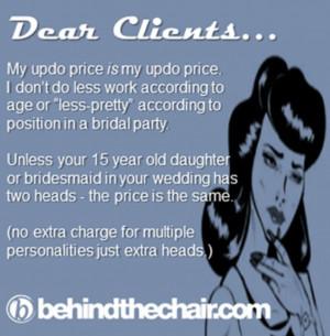 oh gosh haha crazy clients