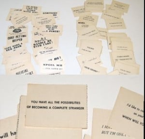 130 vintage Insult Cards/calling cards