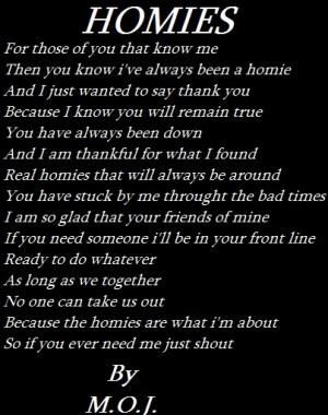 homies poem Image