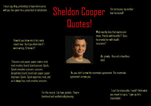 ... sheldon cooper quotes from the best sheldon cooper named for the big