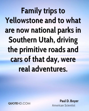 Family trips to Yellowstone and to what are now national parks in ...