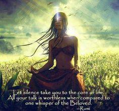 ... Rumi #RumiQuote #Silencethemind #talk #whisper #life #QuoteOfTheDay