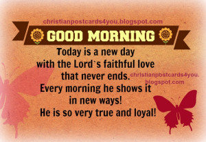 Good Morning with God's Love