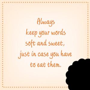 Just a little advice.