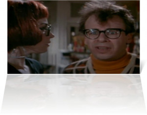 Photo of Rick Moranis, who portrays Louis Tully , appearing beside ...