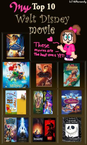 My Top 10 Walt Disney Movies by PrincessKatieForever