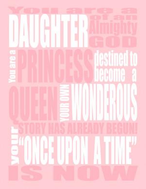 Pink Princess INSPIRATIONAL QUOTE - You are a Princess - Wall Art ...