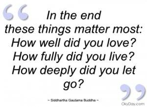 in the end siddhartha gautama buddha