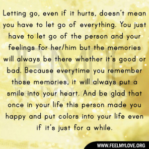 Quotes About Letting Go Of Someone Who Hurt You Letting go even if it ...