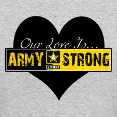 Heather grey Our Love Is Army Strong Women's T-Shirts