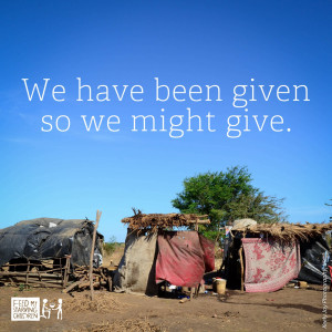 Given to give.