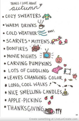 Things I Love About Autumn ~ Love Quote