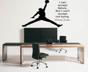 Large Michael Jordan Basketball Inspirational Wall Sticker Quote Vinly ...