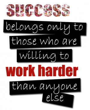 Success Belongs – Motivational Quote