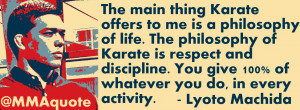 Karate Quotes Karate quotes from ufc