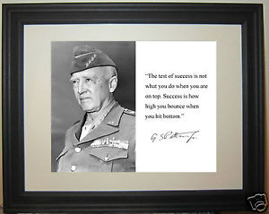 General-George-Patton-World-War-2-WWII-the-Autograph-Quote-Framed ...