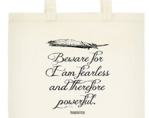 Frankenstein Tote - Book Bag - Mary Shelley Quote - Literary Quote ...