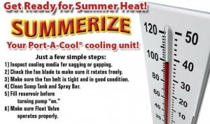 Get ready for Summer Heat: Summerize your Port-A-Cool cooling unit