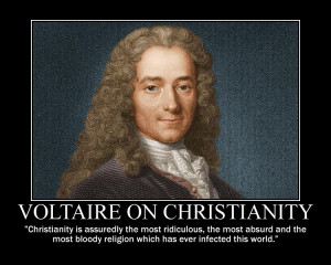 Christianity Voltaire on christianity by