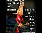 Gymnastics Poster Shawn Johnson Gymnast Photo Quote Wall Art 5x7 ...