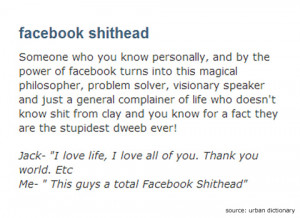 facebook shithead urban dictionary