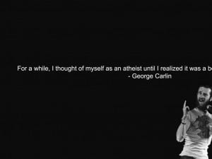 1024x768 quotes atheism george carlin 1920x1200 wallpaper Art HD ...